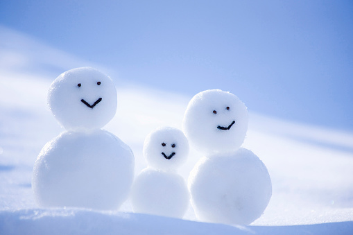 雪だるま「A Snowman Family」:スマホ壁紙(7)