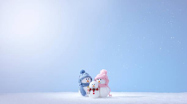 Snowman Family:スマホ壁紙(壁紙.com)