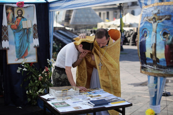 Church「Daily Life In Kiev Ahead Of The Ukrainian Presidential Election」:写真・画像(16)[壁紙.com]