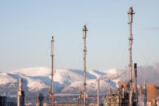 Flare Stack「Flare Stacks at Grangemouth Oil Refinery, Scotland.」:スマホ壁紙(6)