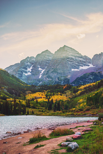 Aspen Tree「Maroon Bells and Lake at Sunset, Colorado, USA」:スマホ壁紙(0)