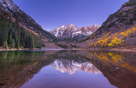 Aspen Tree「Maroon Bells Nightscape with fall colors」:スマホ壁紙(8)