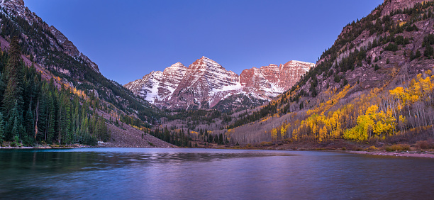 Aspen Tree「Maroon Bells Nightscape with fall colors」:スマホ壁紙(7)