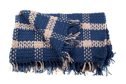 Acrylic Painting「Homemade Crocheted Yarn Afghan Blanket Isolated on White Background」:スマホ壁紙(6)