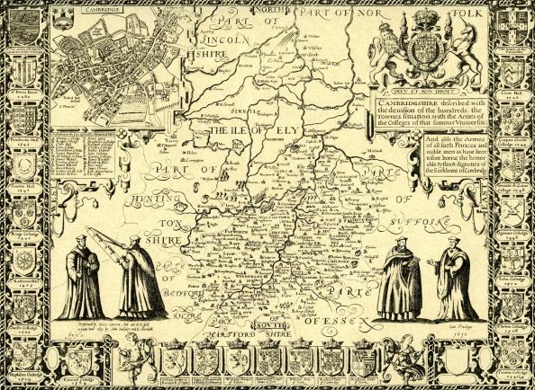 17th Century「Map of Cambridgeshire」:写真・画像(0)[壁紙.com]
