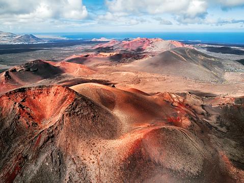 Lanzarote「Volcanic landscape, Timanfaya National Park, Lanzarote, Canary Islands」:スマホ壁紙(14)