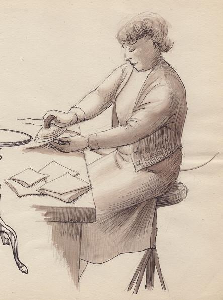 Napkin「Woman Ironing」:写真・画像(9)[壁紙.com]