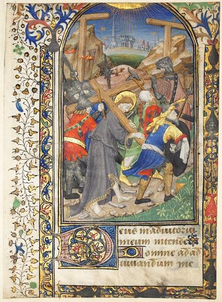 Manuscript「Leaf Excised From The Tarleton Hours: Christ Carrying The Cross (Terce」:写真・画像(0)[壁紙.com]