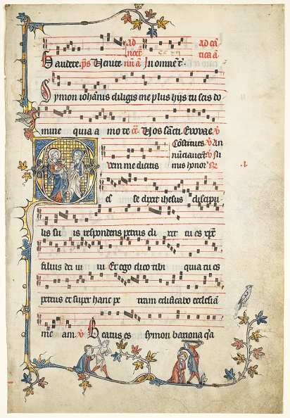 Manuscript「Leaf Excised From An Antiphonary: Initial Q With Saints Peter And Paul」:写真・画像(10)[壁紙.com]
