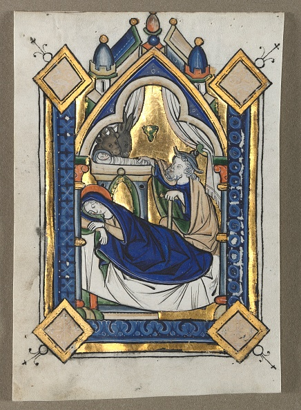 Manuscript「Leaf Excised From A Psalter: The Nativity」:写真・画像(9)[壁紙.com]