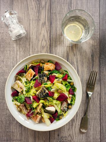 Vinaigrette Dressing「beetroot and smoke mackerel salad」:スマホ壁紙(9)
