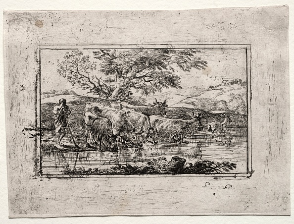 Etching「The Herd At The Watering Place」:写真・画像(5)[壁紙.com]