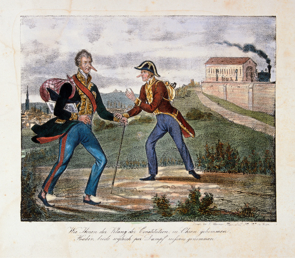 Chromolithograph「Cartoon On The Escape Of Prince Clemens Von Metternich」:写真・画像(18)[壁紙.com]