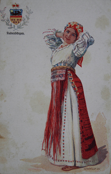 Tradition「Girl In Traditional Costume From Transylvania (Romania). Coloured Picture Postcard. About 1910. Reproduction Based A Painting By Adolf Karpellus (Bkw).」:写真・画像(14)[壁紙.com]