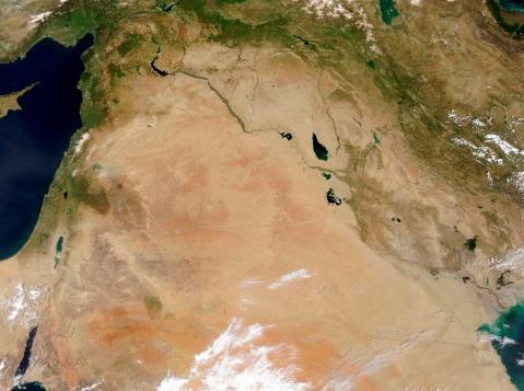 "Iran「""The Middle East, satellite image""」:スマホ壁紙(18)"