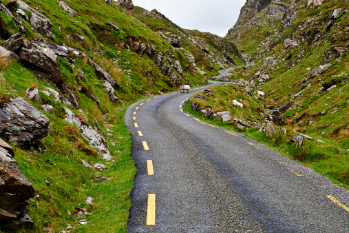 Ring of Kerry「Irish mountain road」:スマホ壁紙(12)