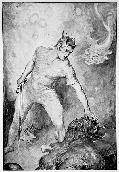Fictional Character「Beowulf Shears Off The Head Of Grendel' 1910」:写真・画像(5)[壁紙.com]
