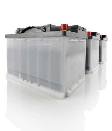 Power Supply「Three car batteries against a white background」:スマホ壁紙(10)