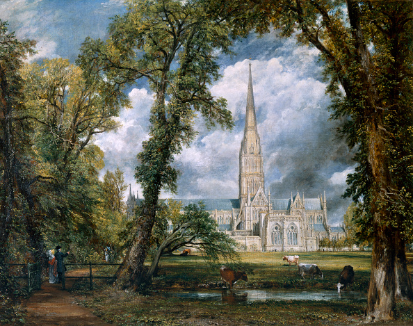 Salisbury Cathedral「View Of Salisbury Cathedral From The Bishop's Grounds' Wiltshire circa 1822」:写真・画像(5)[壁紙.com]