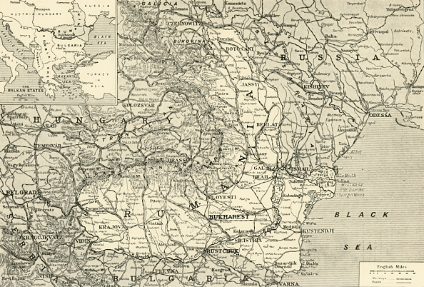Physical Geography「Map Indicating The Area Of The Rumanian Campaign」:写真・画像(11)[壁紙.com]