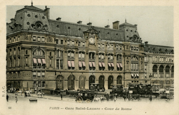 1900「Gare Saint- Lazare, Paris」:写真・画像(9)[壁紙.com]