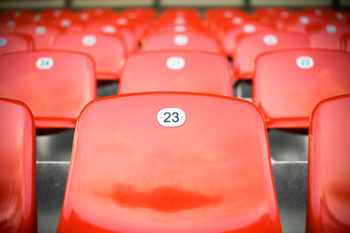 Number「Empty stadium seats before a game」:スマホ壁紙(0)