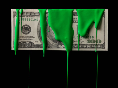 American One Hundred Dollar Bill「American currency covered in green paint」:スマホ壁紙(7)