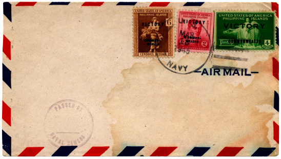 Battle「Philippine Islands victory stamps on envelope 1945」:スマホ壁紙(17)
