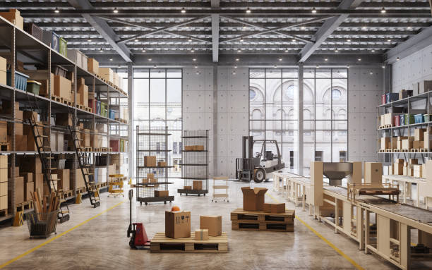 Factory warehouse interior:スマホ壁紙(壁紙.com)