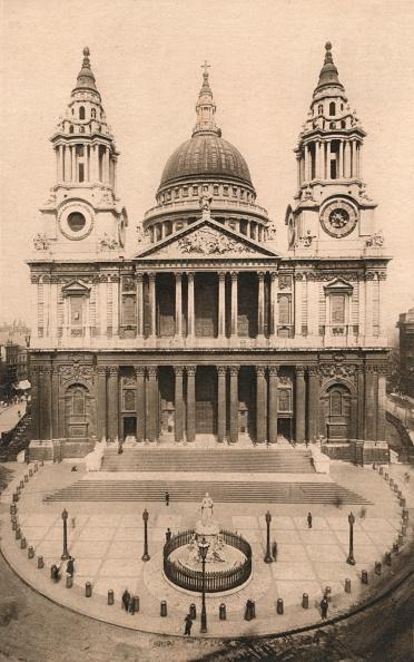 Facade「London, St. Pauls Cathedral, 1924, (c1900-1930)」:写真・画像(1)[壁紙.com]