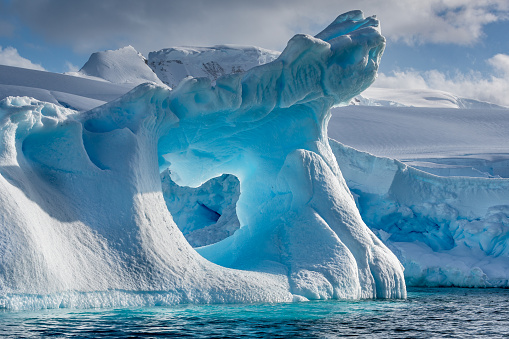 Iceberg - Ice Formation「Weather eroded iceberg in Wilhemina Bay Antarctica」:スマホ壁紙(8)