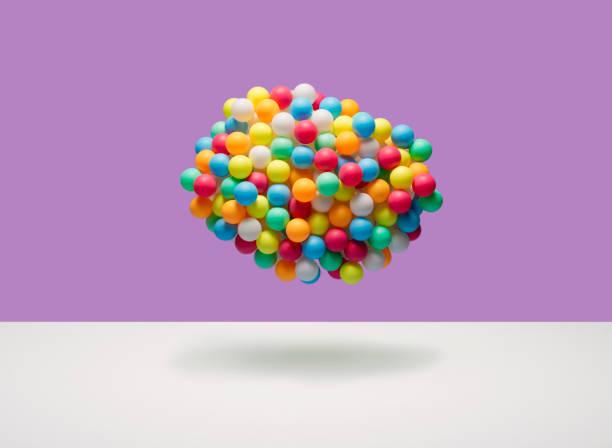 Cloud of multi-colored balls:スマホ壁紙(壁紙.com)