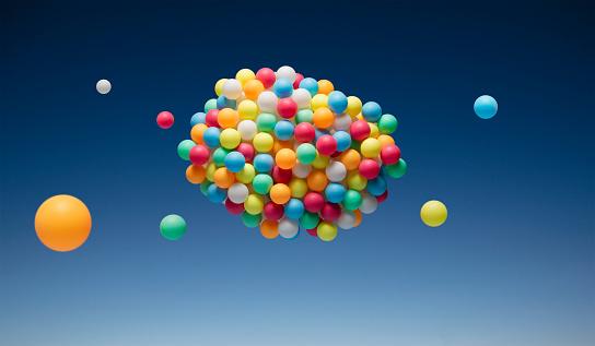 Conformity「Cloud of multi-colored balls」:スマホ壁紙(0)
