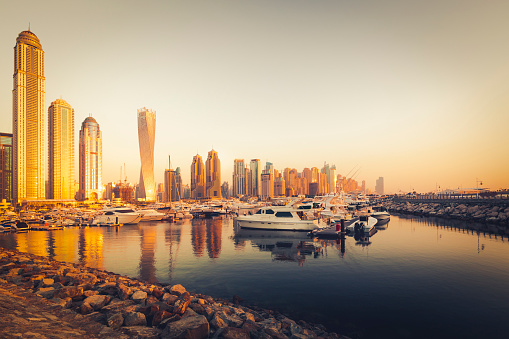 Postmodern「dubai marina at sunset, united arab emirates」:スマホ壁紙(14)