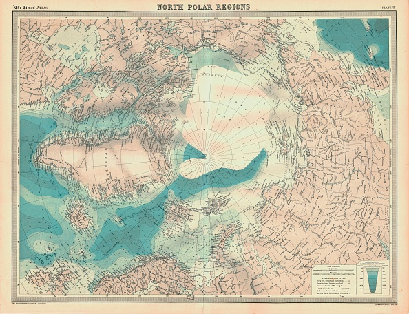 Scandinavia「Map Of The North Polar Regions Artist Unknown」:写真・画像(1)[壁紙.com]