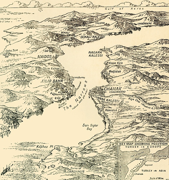 Physical Geography「Map Of The Dardanelles」:写真・画像(8)[壁紙.com]