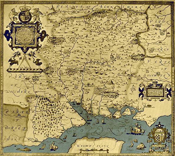 City Life「Map of the County of Southampton, England」:写真・画像(12)[壁紙.com]