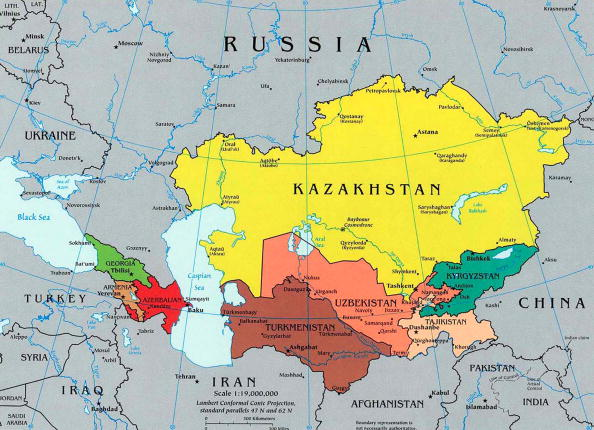 Central Asia「A map of the Caucasus and Central Asia 2003」:写真・画像(9)[壁紙.com]