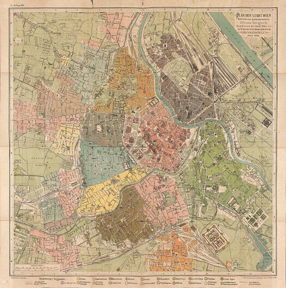Vienna - Austria「Map Of The City Of Vienna By Franz Berger. Vienna. 1890」:写真・画像(10)[壁紙.com]