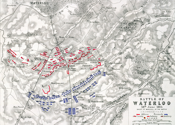 Position「Map Of The Battle Of Waterloo 18th June 1815 (19th Century)」:写真・画像(14)[壁紙.com]