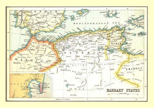 Coastline「Map Of The Barbary States」:写真・画像(8)[壁紙.com]