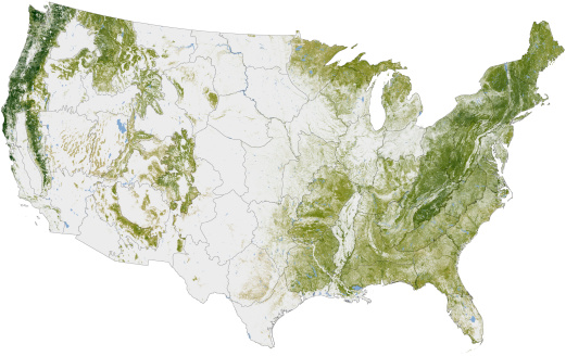 Biomass - Ecological Concept「Map of the United States showing the concentration of biomass.」:スマホ壁紙(19)