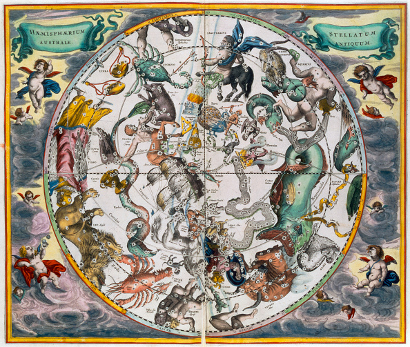 星空「Map Of The Celestial Southern Hemisphere 1660-1661」:写真・画像(15)[壁紙.com]