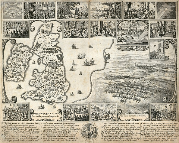 17th Century「Map Of The British Isles And Illustrations Of 17Th Century Historical Events」:写真・画像(12)[壁紙.com]