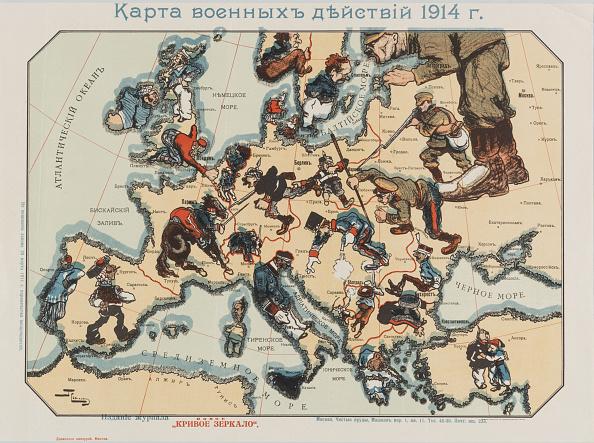 Chromolithograph「Map Of The 1914 War Activities」:写真・画像(0)[壁紙.com]