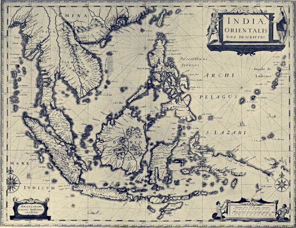 17th Century「Map of the Indian Archipelago」:写真・画像(17)[壁紙.com]