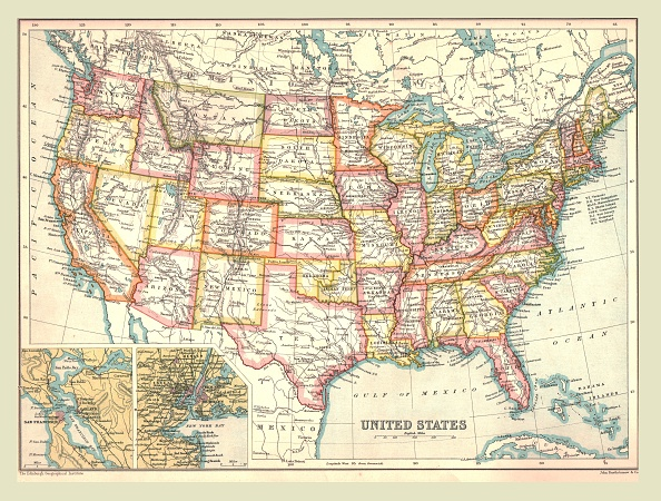 North America「Map Of The United States」:写真・画像(14)[壁紙.com]