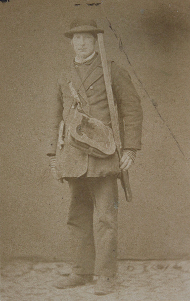 1870-1879「Hunter Serie From The Lower Austrian Herrschaft Starhemberg Round Ybbs: Brandhofer From Karlsbach. Man With Gun And Game-Bag Slung Over His Shoulder. Full Figure. About 1870. Anonymous Photograph.」:写真・画像(18)[壁紙.com]