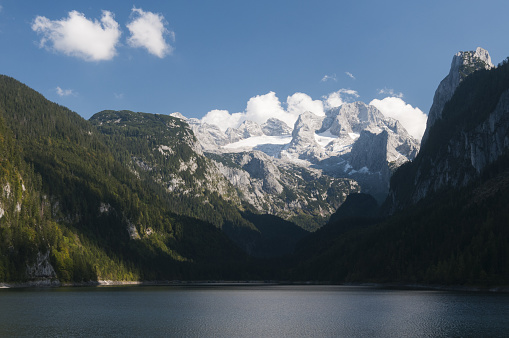 Dachstein Mountains「Lake Gosau See with Dachstein mountains」:スマホ壁紙(0)