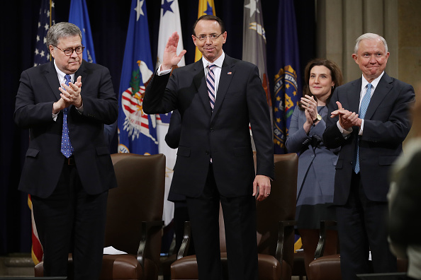 Ceremony「Department Of Justice Holds Farewell Ceremony For Deputy Attorney General Rod Rosenstein」:写真・画像(2)[壁紙.com]